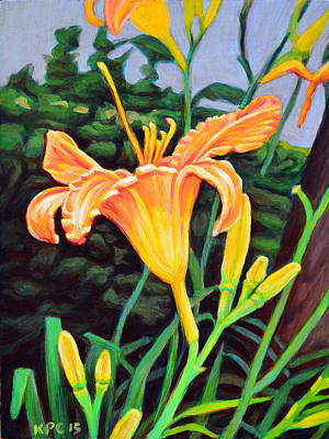 Scenic Painting - Day Lily by Kenneth Cobb