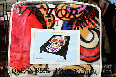 Dia De Los Muertos Photograph - Day Of Dead Blanket Made In China  by Chuck Kuhn