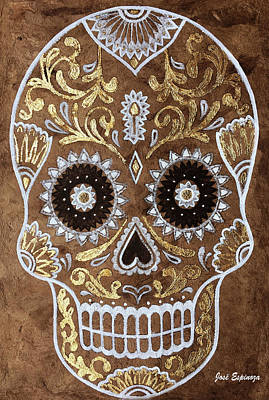Art Print featuring the painting Day Of Death by J- J- Espinoza