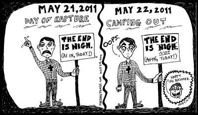 Fundamentalist Drawing - Day Of Rapture Epic Fail by Yasha Harari