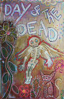 Paranormal Mixed Media - Day Of The Dead - Ascension by Laura Barbosa