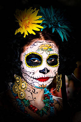 Photograph - Day Of The Dead Eyes by Robin Zygelman