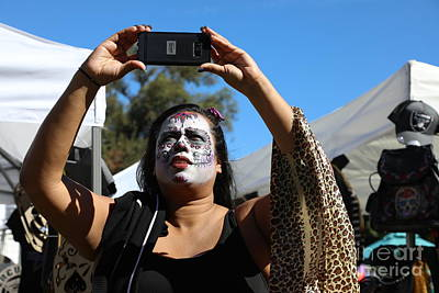 Dia De Los Muertos Photograph - Day Of The Dead Iphone Woman by Chuck Kuhn