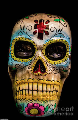 Photograph - Day Of The Dead Mask by Mitch Shindelbower