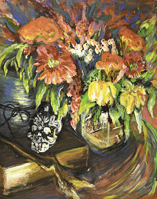 Dio Painting - Day Of The Dead Still Life by Melissa Brazeau