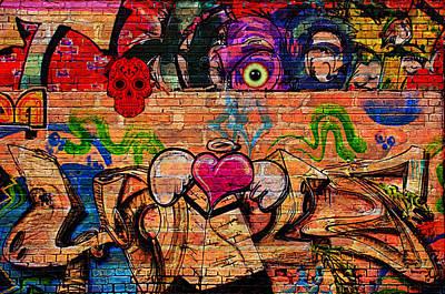 Day Of The Dead Street Graffiti Art Print