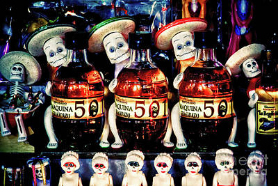 Photograph - Day Of The Dead Candy And Tequila Display by Tatiana Travelways