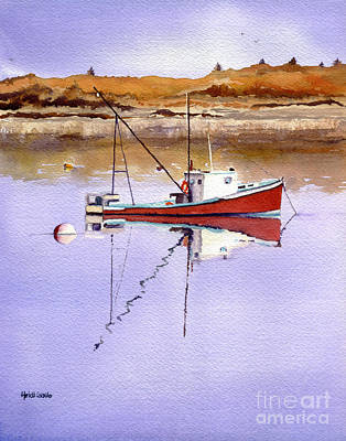 Lobster Boat Maine Painting - Day Off by Heidi Gallo
