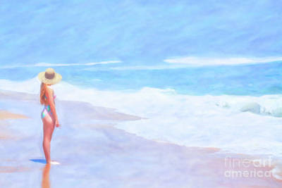 Digital Art - Day On The Beach Sun Sand Sea by Randy Steele