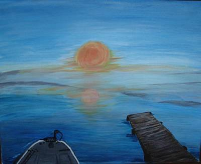 Painting - Day Out Fishing by Susan Snow Voidets