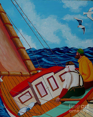 Painting - Day Sail by Anthony Dunphy