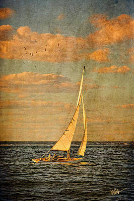 Sailing Mixed Media - Day Sail by Michael Petrizzo