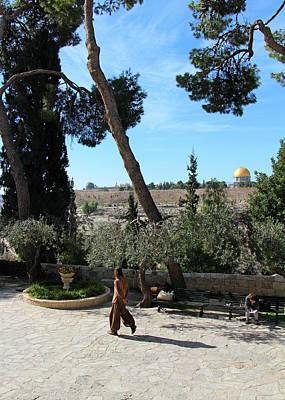 Photograph - Day Walk In Jerusalem by Munir Alawi