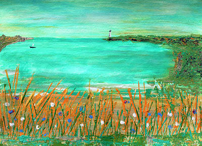 Painting - Dayatthebeach by Haleh Mahbod