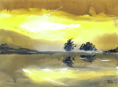 Painting - Daybreak 5 by Anil Nene