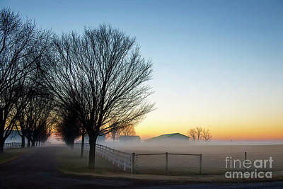 Photograph - Daybreak And Morning Mist by David Arment