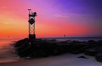 Photograph - Daybreak At Ocean City Inlet by Bill Jonscher
