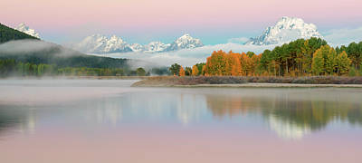 Photograph - Daybreak At Oxbow Bend by Loree Johnson