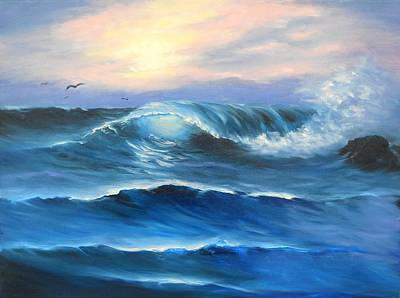 Painting - Daybreak At Sea by Natascha de la Court
