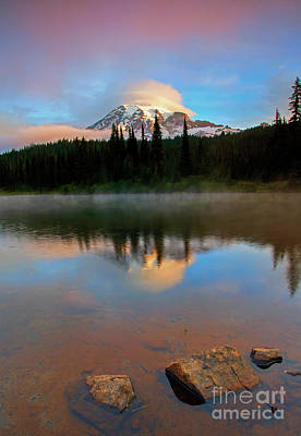 Photograph - Daybreak Cloud Cap by Mike Dawson
