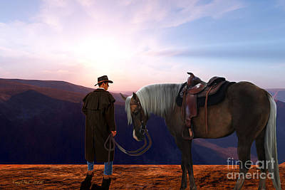 Cattle Drive Painting - Daybreak by Corey Ford