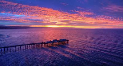 Santa Cruz Wharf Photograph - Daybreak by David Levy