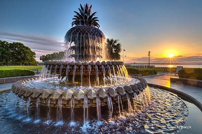Daybreak In Charleston Art Print
