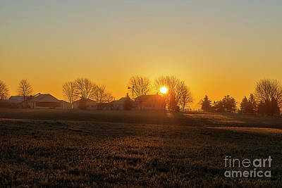 Photograph - Daybreak Indiana by David Arment