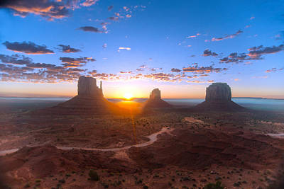 Photograph - Daybreak Monument Valley by Steven Barrows