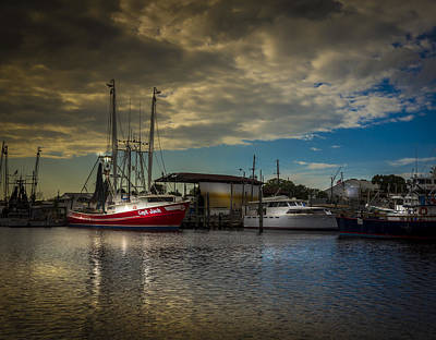 Wooden Boat Photograph - Daybreak On The Captain Jack by Marvin Spates