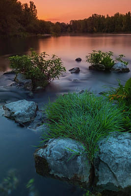 Photograph - Daybreak Over The Old Riverbed by Davor Zerjav