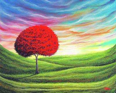 Rainbow Fantasy Art Painting - Daybreak by Rachel Bingaman