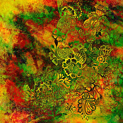 Daydreams Art Mixed Media - Daydream Doodles by Ally  White