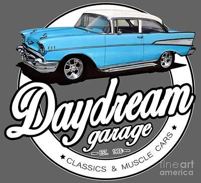Daydream Garage With Bel Air Art Print