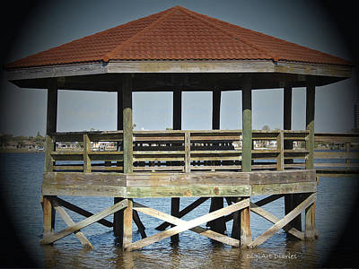 Boating Digital Art - Daydream Gazebo by DigiArt Diaries by Vicky B Fuller