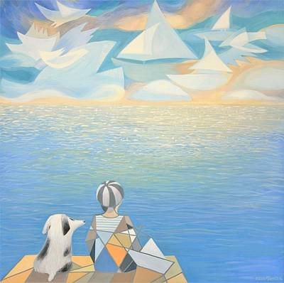 Painting - Daydreamers by Ezartesa Art