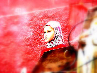 Funkpix Digital Art - Daydreaming Morrocan Girl  by Funkpix Photo Hunter