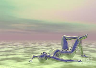 Woman Daydreaming Digital Art - Daydreaming by Sandra Bauser Digital Art