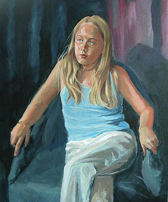 Painting - Daydreaming by Synnove Pettersen