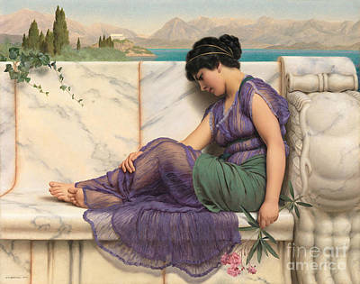 Daydreams 1909 Art Print