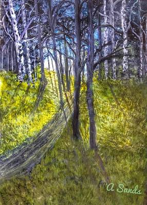 Painting - Daylight In The Birches by Anne Sands