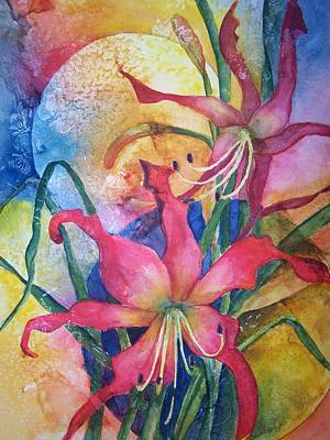 Daylilies In July Art Print