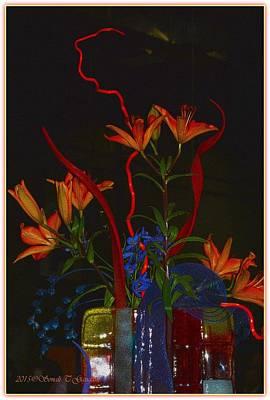 Thomas Kinkade - Daylily Bouquet by Sonali Gangane