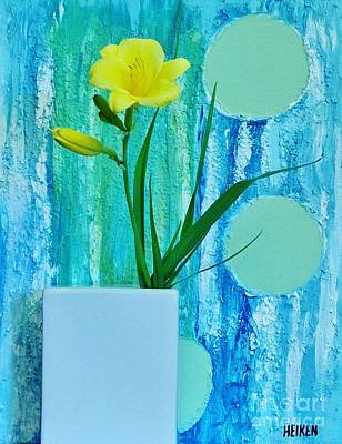 Daylily During Day Art Print by Marsha Heiken