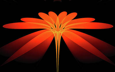 Digital Art - Daylily by GJ Blackman