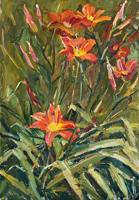 Painting - Daylily by Juliya Zhukova