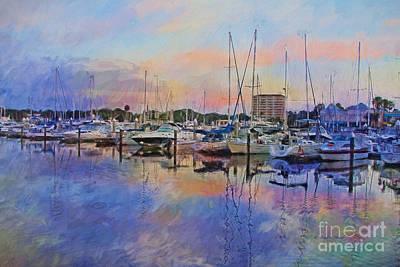 Painting - Daytona Boat Docks by Deborah Benoit