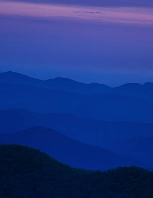Solitude Photograph - Day's End At The Blue Ridge by Andrew Soundarajan