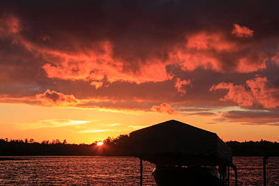 Photograph - Days End At The Lake by Bonnie Follett