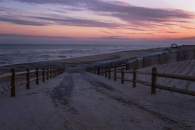 Sand Fences Photograph - Days End Beach Haven New Jersey  by Terry DeLuco